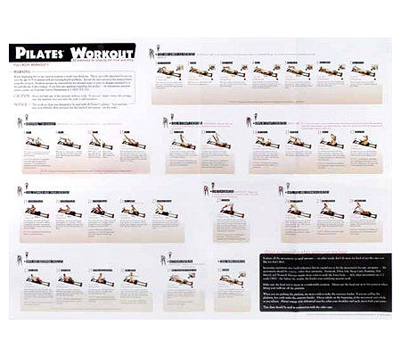 Pilates Reformer Full Body Workout Replacementwall Chart Product Thumbnail In Stock