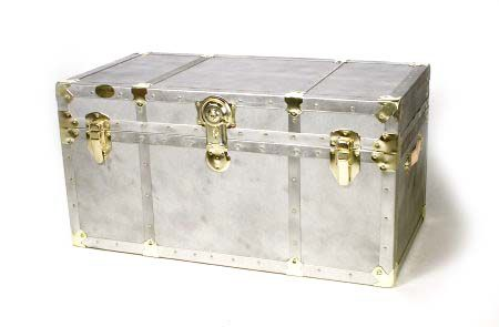 Antique Style Storage Trunk With Brass Hardware U2014 QVC.com