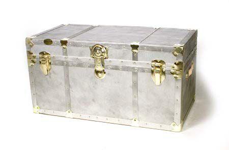 Antique Style Storage Trunk With Brass Hardware U2014 QVC.com