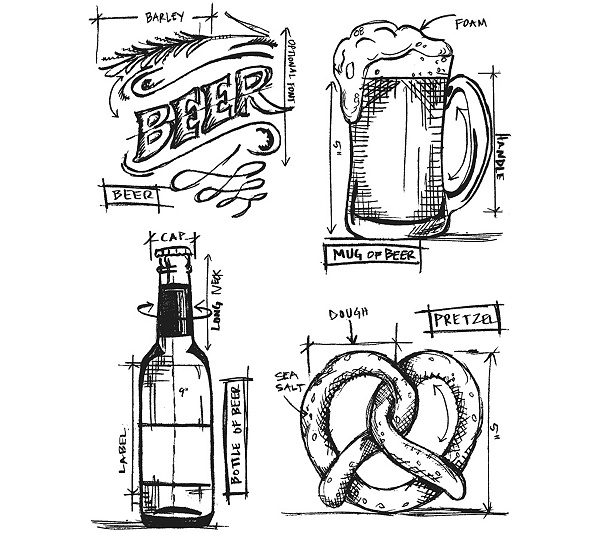 Tim holtz cling stamps 7 x 85 beer blueprint qvc malvernweather Images