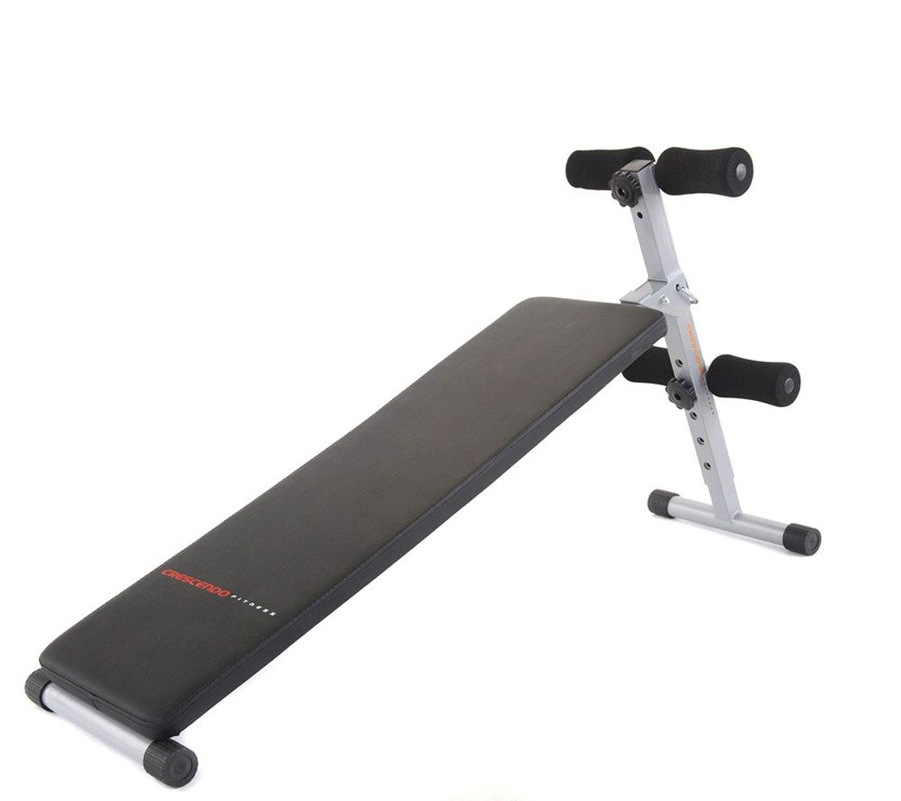 Crescendo fitness slant sit up and weight bench u qvc