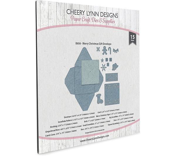 cheery lynn designs merry christmas gift envelope die set qvccom