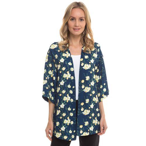 Col Kimono Bord Lancini Manches ¾ À Imprimée Veste Caterina xqOgwFIg