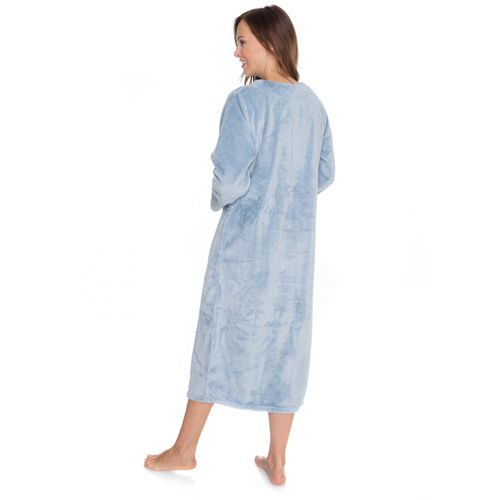 Carole Hochman Longue Robe De Chambre Rond Longues Col Avec Manches rrxHdwfq