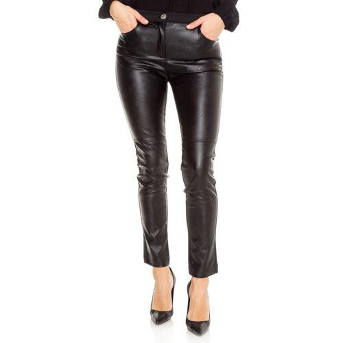 CATERINA LANCINI Pantalon simili-cuir Taille haute élastiquée avec Poches -  QVC France 3c1c608ca4d6