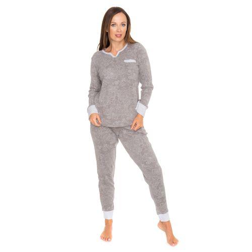 CAROLE HOCHMAN Pyjama Imprimé Manches Longues avec Poches - Achat en ligne  - QVC France ef153454665