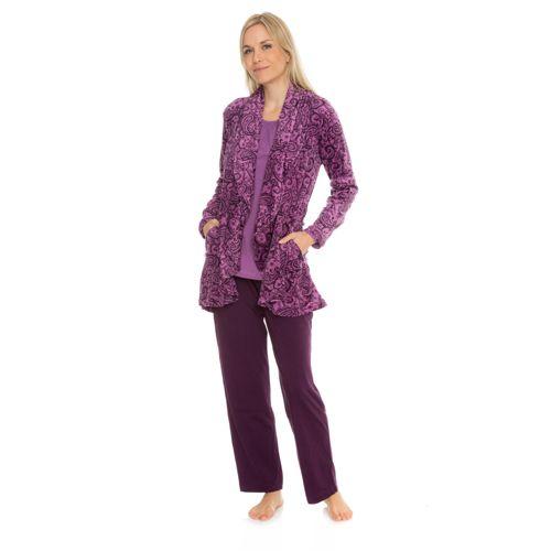 Carole De Cardigan Pyjama 3 Nuit Hochman Pièces Long Ensemble amp; 17xwrPq1g