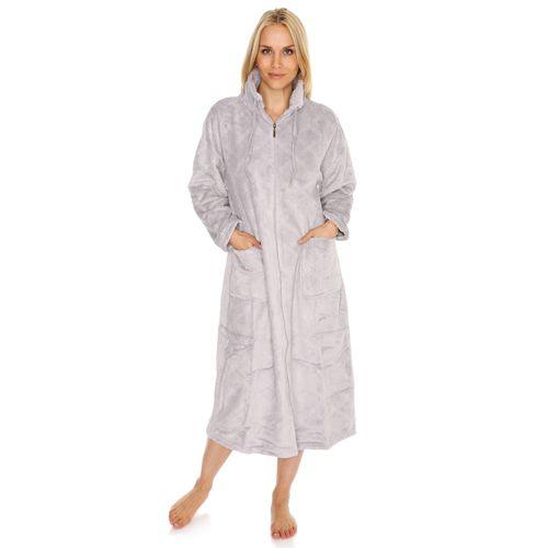 Robe De Chambre Polaire Longue Zippée
