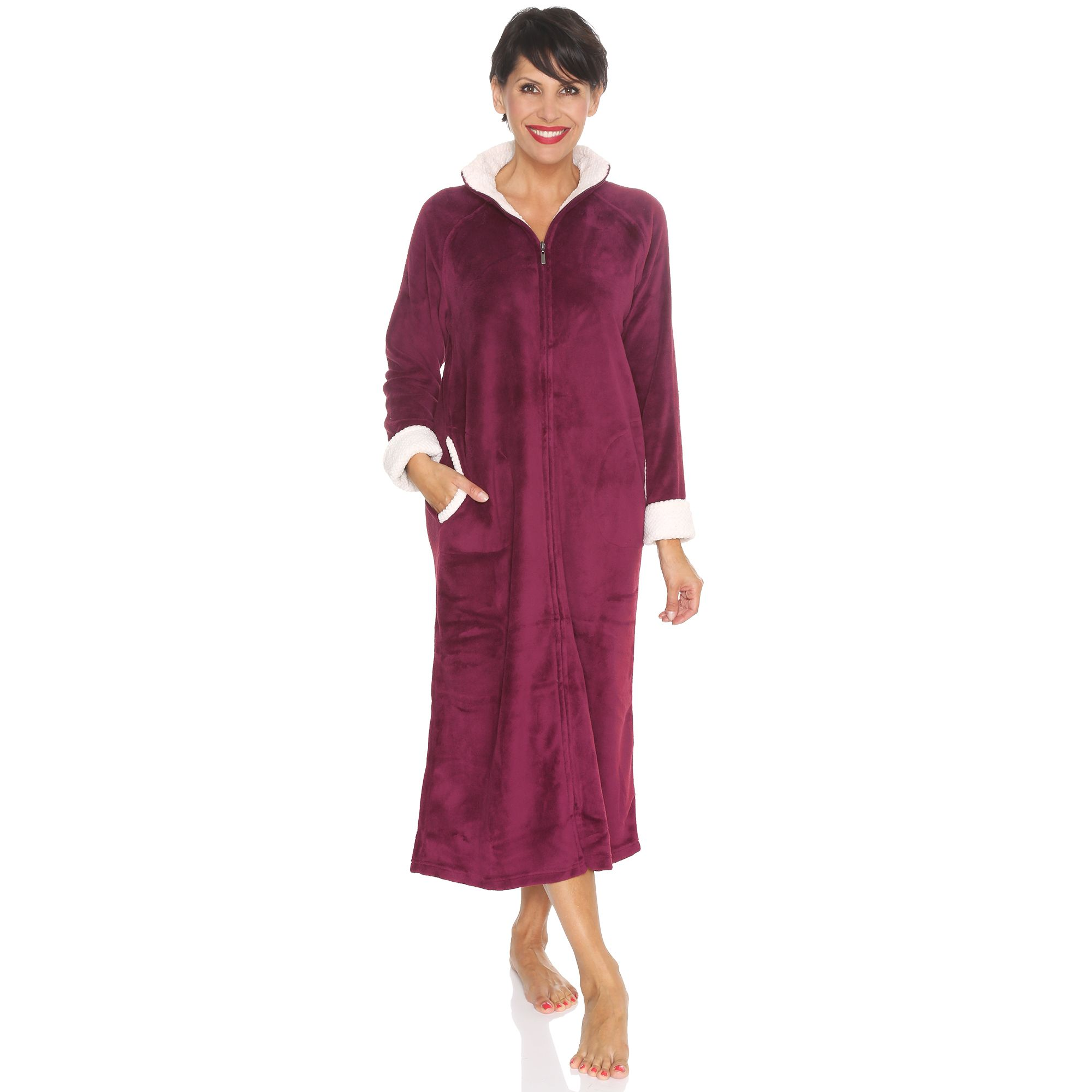 Robe De Chambre Femme Longue Zippee Best Dress France