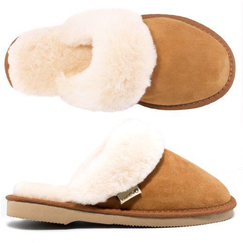 koalabi scuffs chaussons mules fourr es peau de mouton qvc france. Black Bedroom Furniture Sets. Home Design Ideas