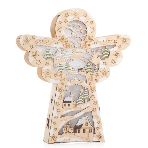 Lumida Decoration De Noel En Bois Papier Aluminium 6 Led Achat