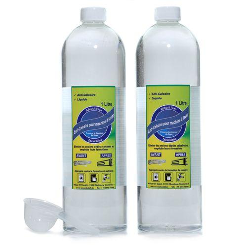 Lavarome lot de 2 bouteilles anti calcaire pour machine laver 2 x 1l doseur qvc france - Calcaire machine a laver ...