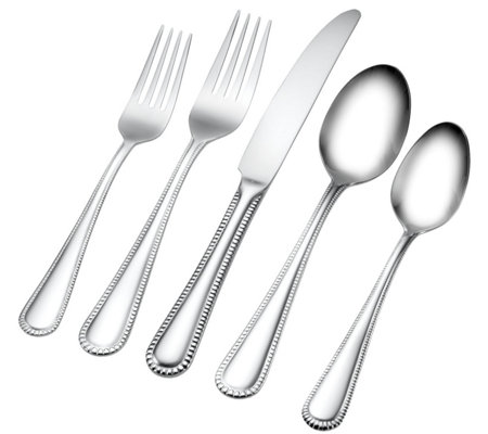 ED On Air Hampton Forge 18/10 67pc Flatware Set by Ellen DeGeneres
