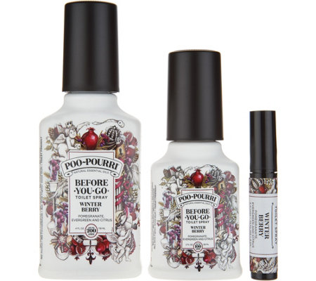 Poo-Pourri 3-Piece Bathroom Deodorizer Set