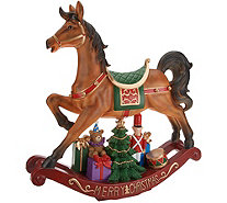 Indoor/Outdoor Oversized Holiday Rocking Horse by Valerie - H216800