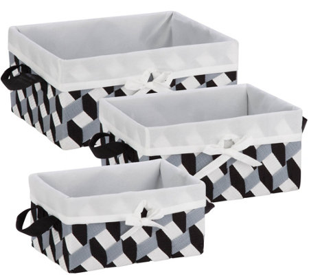Honey-Can-Do Set of 3 Twisted Totes