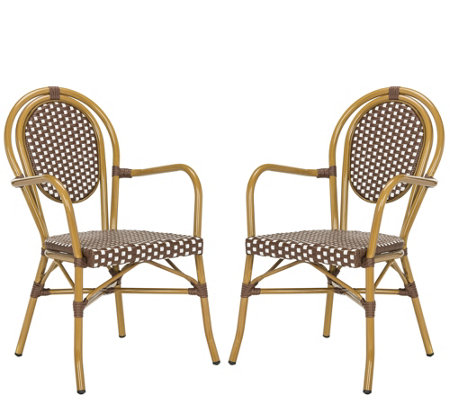 Safavieh Rosen French Bistro Stacking Arm Chair Set Of 2