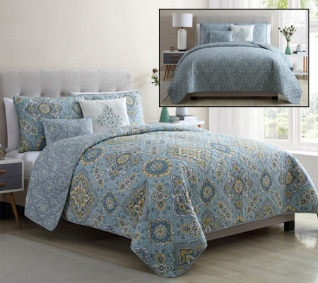 Vcny Home Riya 5 Piece King Quilt Set