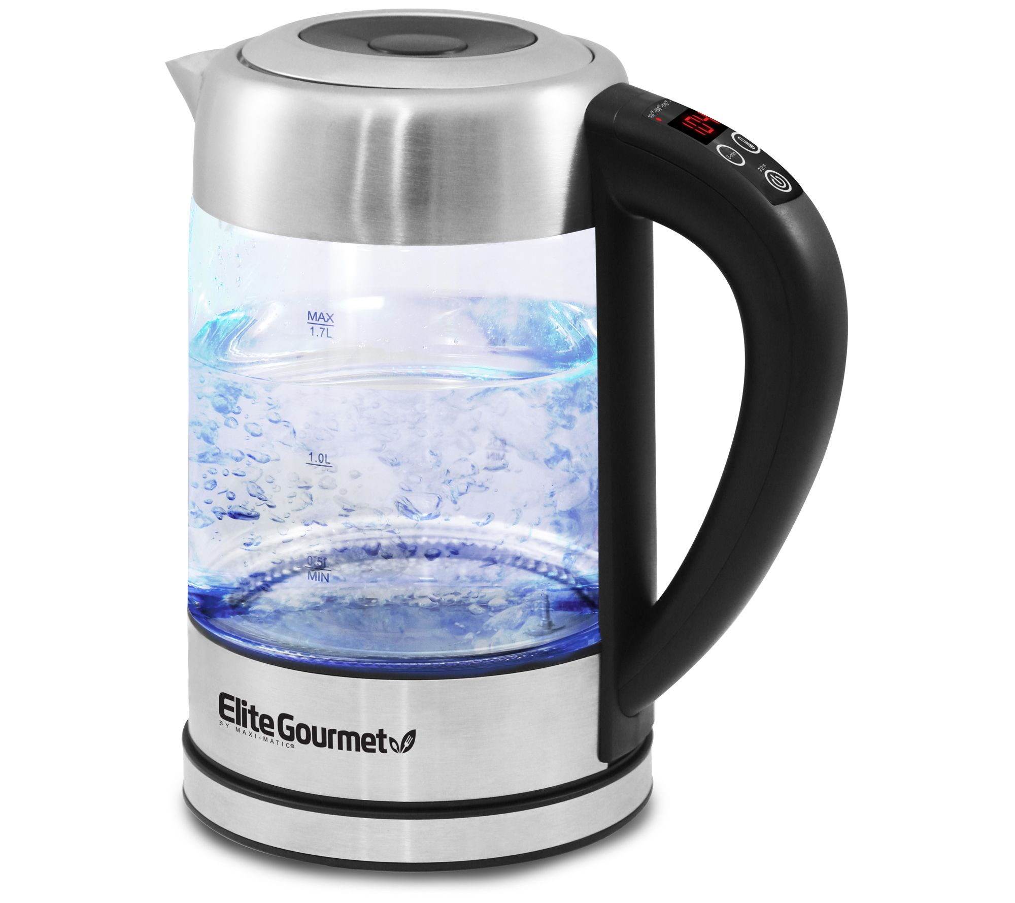 Elite Gourmet 1 7l Electric Programmable Kettle 7 2 Cups Qvc Com