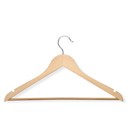 Honey-Can-Do 24-pack Maple-finish Wood Suit Hangers