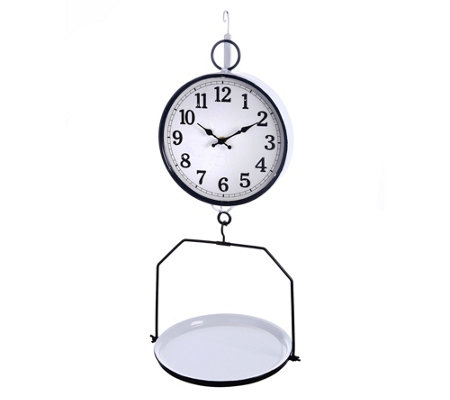Hanging Scale Clock by Valerie