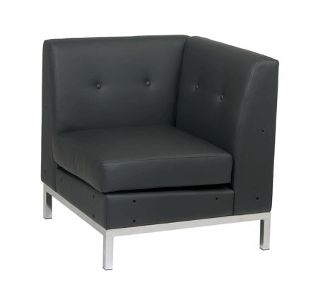 Avenue Six Wall Street Corner Chair - Black