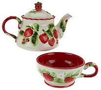 Temp-tations Figural Fruit Tea for One Set - H208301