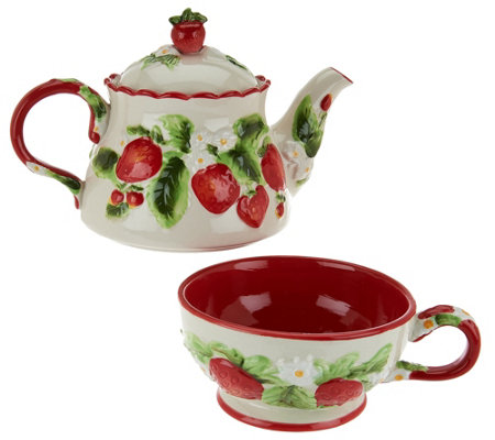 Temp-tations Figural Fruit Tea for One Set