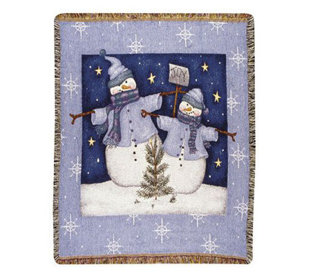 Even Snowmen Get the Blues Throw by Simply Home