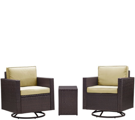 Palm Harbor 3-Piece Outdoor Wicker ConversationSet