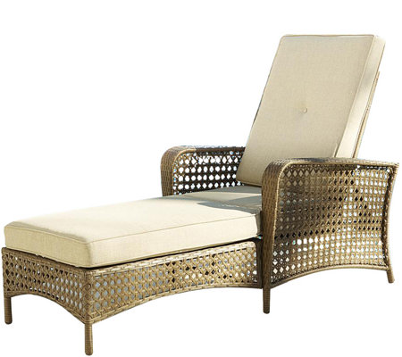 Cosco Lakewood Ranch Steel Chaise Lounge Chairw/ Woven Side