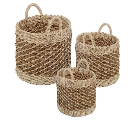 Honey-Can-Do Coastal Collection Set of 3 Natural Storage Bins