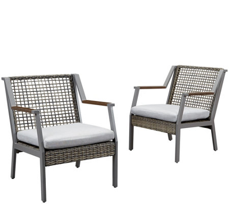 Real Flame Set of 2 Calvin Chairs