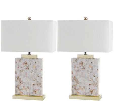Safavieh Set of 2 Tory Shell Table Lamp