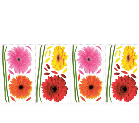 RoomMates Small Gerber Daisies Peel & Stick Wall Decals