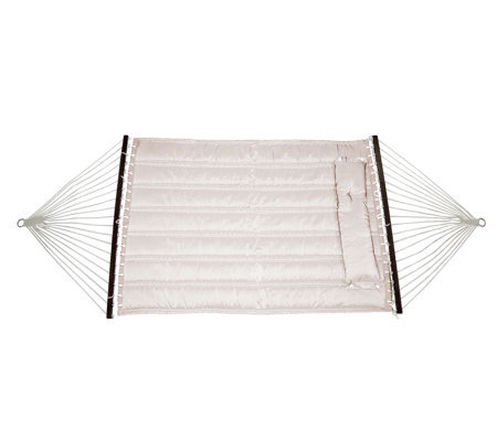 Bliss Hammocks Quilted Hammock with DetachablePillow - Sand
