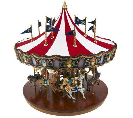Mr Christmas Carousel.Mr Christmas Grand Flag Carousel With Lights And Music Qvc Com