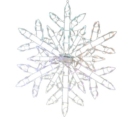 """As Is"" Santa's Best 35"" Snowflake w/125 LED Lights & 8 Functions"