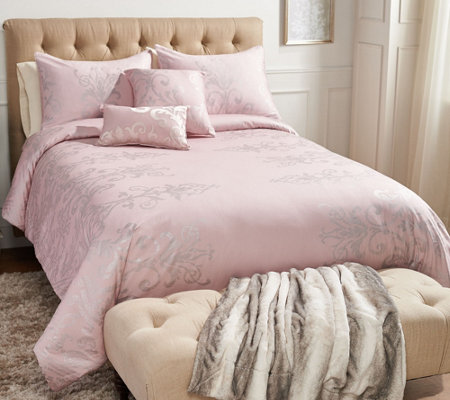 Casa Zeta-Jones Metallic Printed Cotton King Comforter Set