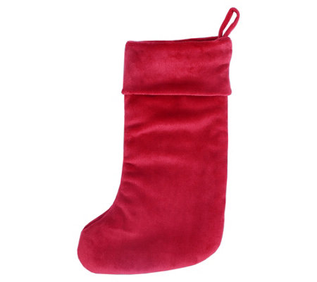 Berkshire Blanket Red VelvetLoft Christmas Stocking