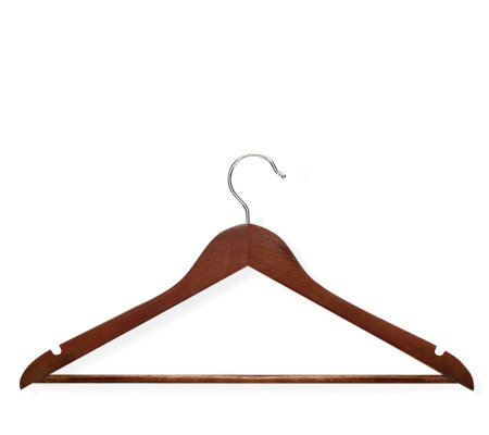 Honey-Can-Do 24-pack Cherry-finish Wood Suit Hangers