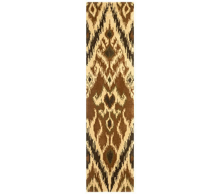 "Safavieh Capri Collection Ikat 2'3"" x 9' Wool and Viscose Rug"