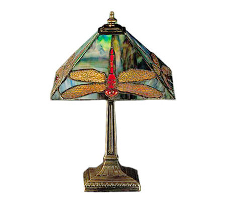 "Tiffany Style 15-1/2""H Dragonfly Lamp"