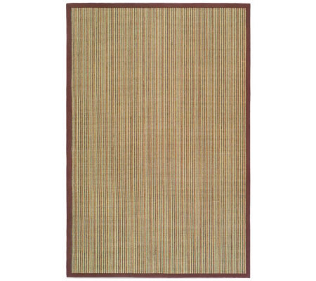 Serenity Stripe Natural Fiber Sisal 4' x 6' Rugwith Border