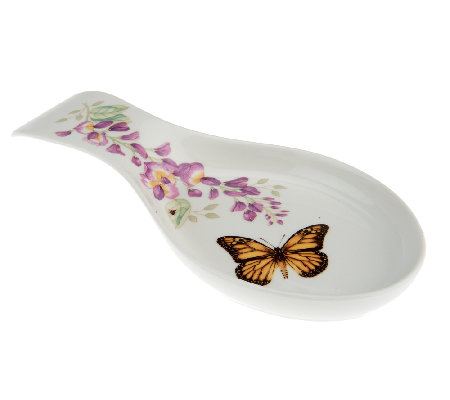 Lenox Butterfly Meadow Porcelain Spoon Rest