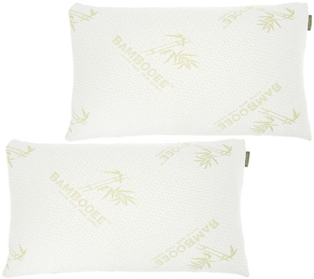 S/2 King Memory Foam Pillows w/ Rayon Made from Bamboo by Lori Greiner