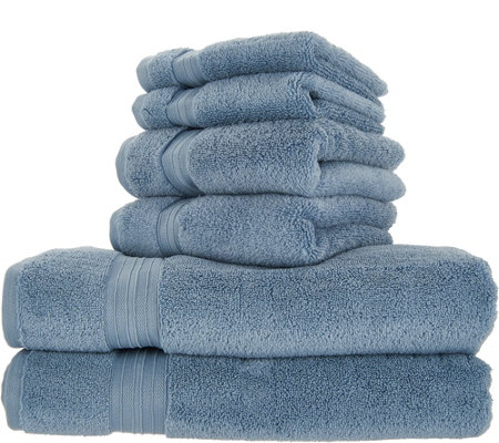 Northern Nights 6 Piece 100 Cotton Soft Loft Towel Set