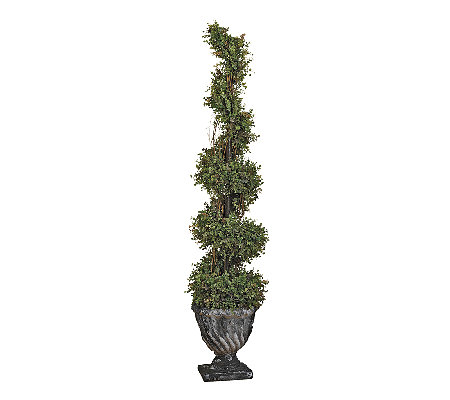 Design Toscano Large Spiral Garden Topiary FauxTree