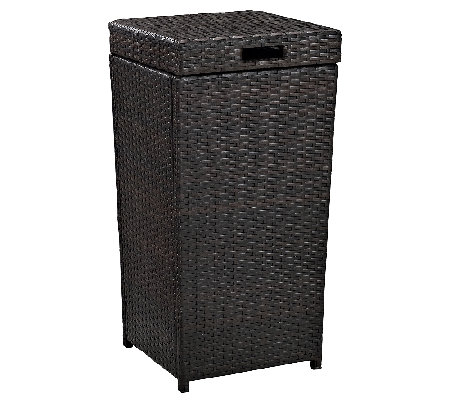 Crosley Palm Harbor Outdoor Wicker Trash Bin