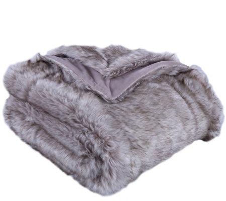 Berkshire Blanket Luxury Wolf Faux Fur Throw Blanket